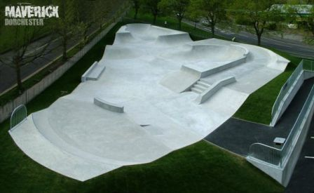 Dorchester Skatepark photo shot from above