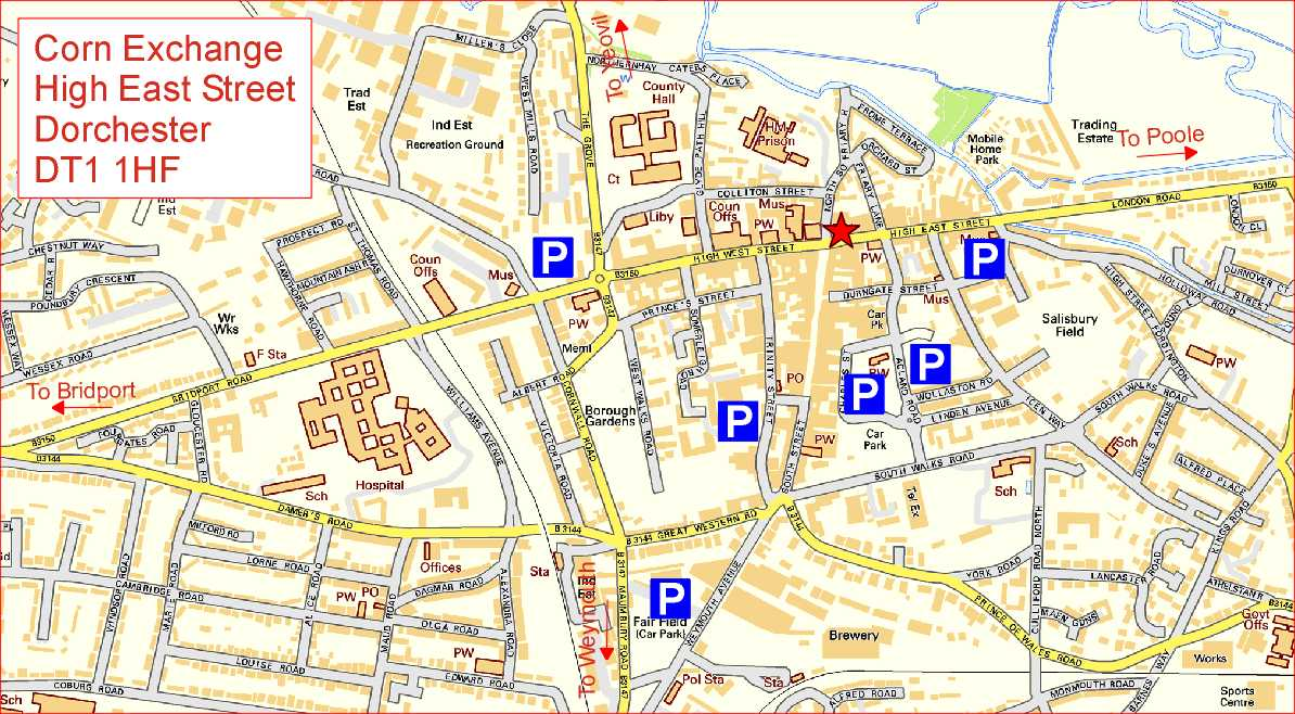 Map Of Dorchester Corn Exchange Map Of Dorchester